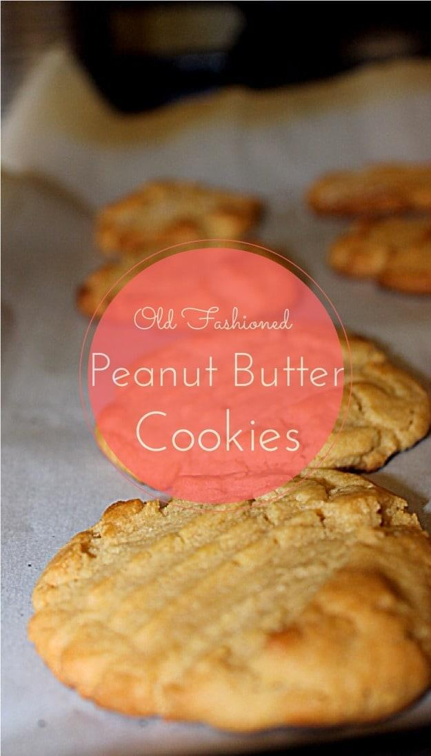 Kid Friendly Fridays: Easy Old Fashioned Peanut Butter Cookie Recipe