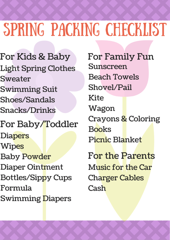 Spring Packing Checklist