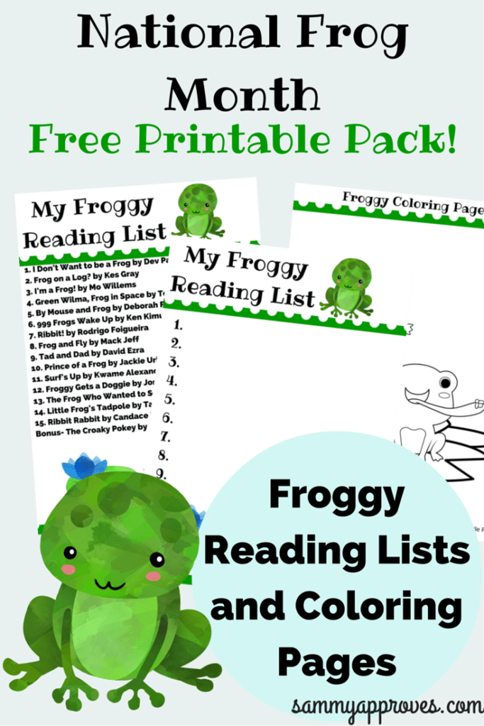 National Frog Month Reading List & Coloring Pack (1)