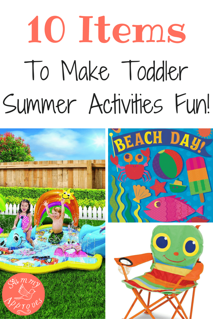 10 Summer Makeup Must Haves: 10 Items To Make Toddler Summer Activities Fun