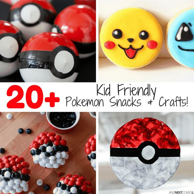 20+ Kid Friendly Pokemon Crafts and Snacks •
