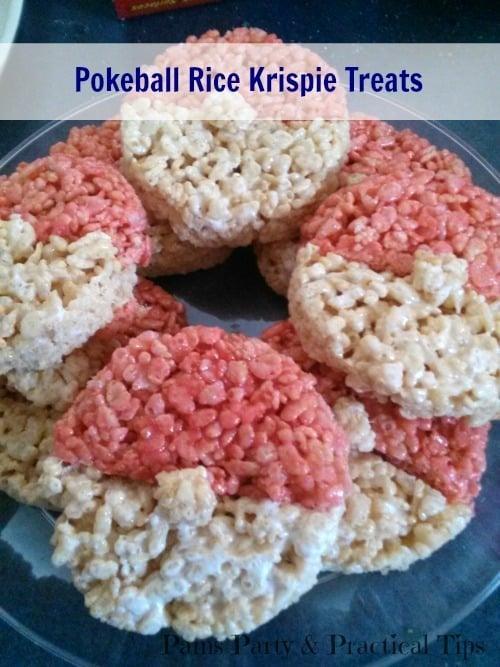 Pokeball Rice Krispie Treats