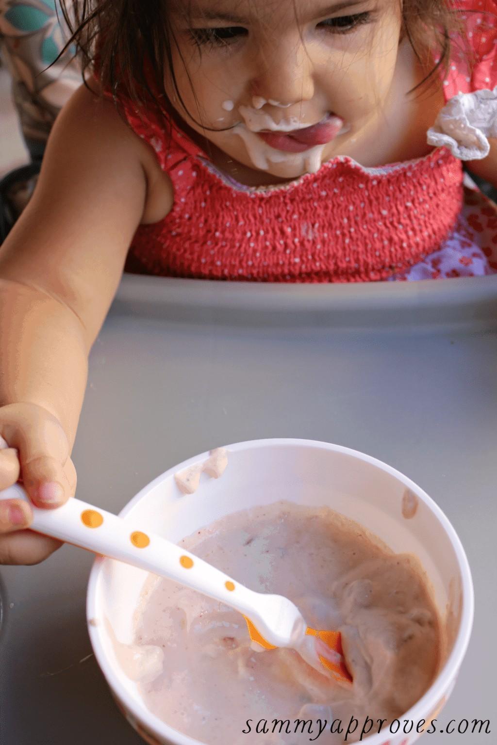 Apple Blueberry Toddler Yogurt Bowls