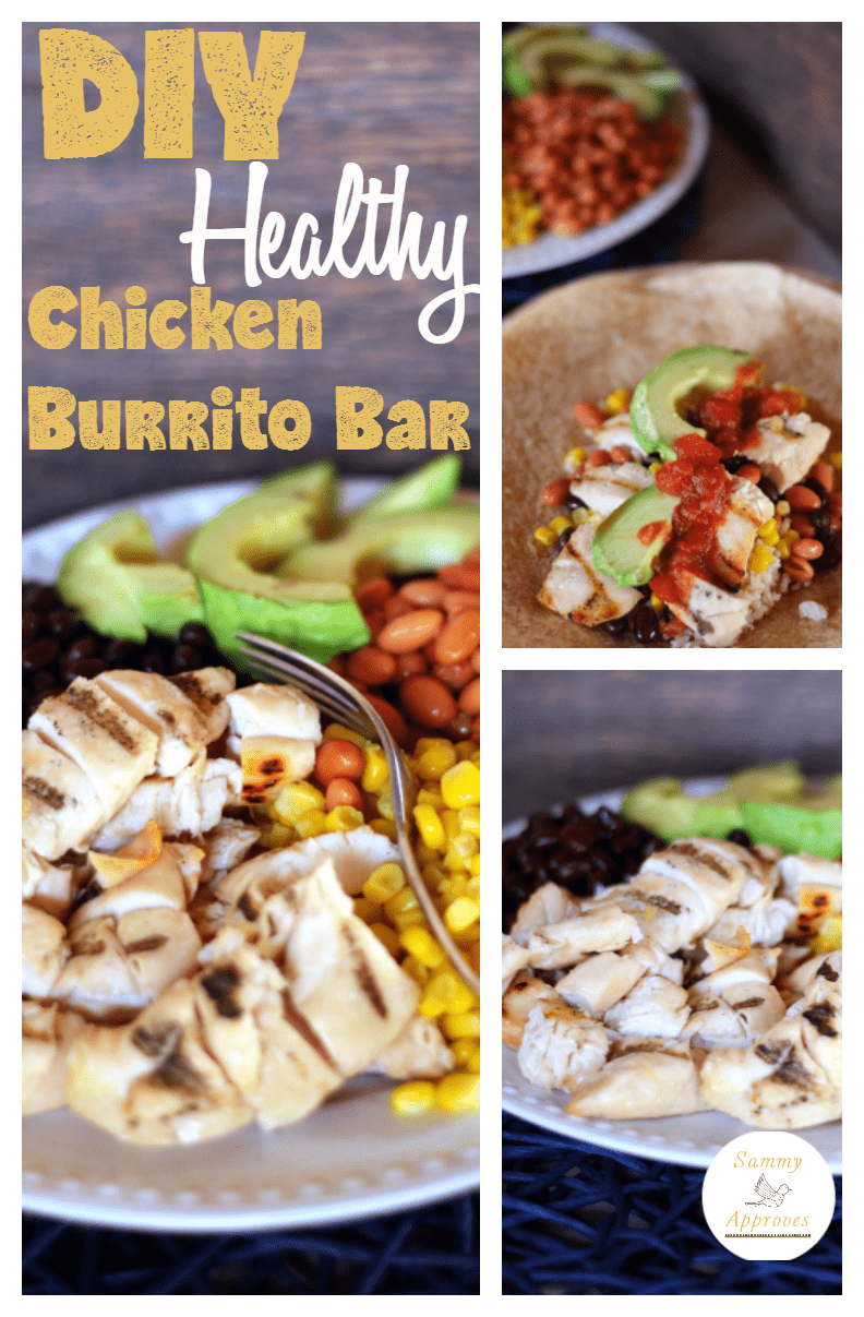 DIY Healthy Chicken Burrito Bar