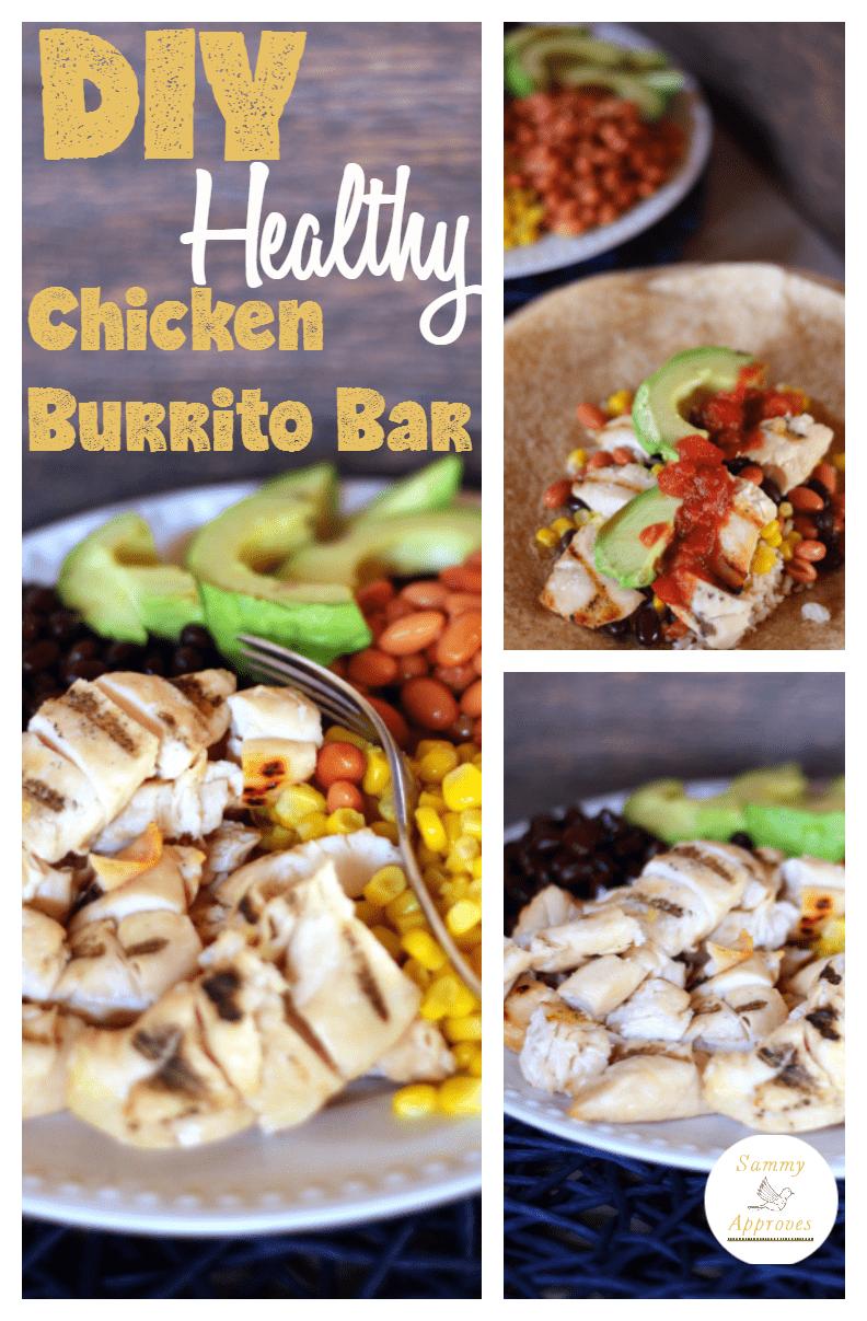 DIY Healthy Chicken Burrito Bar