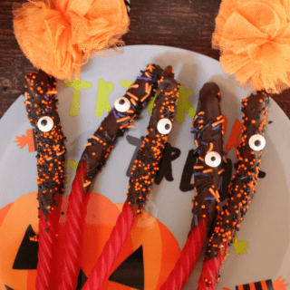 One-Eyed Chocolate Dipped Licorice Monsters