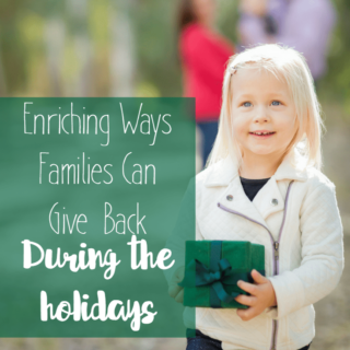 How Families Can Give Back During the Holidays