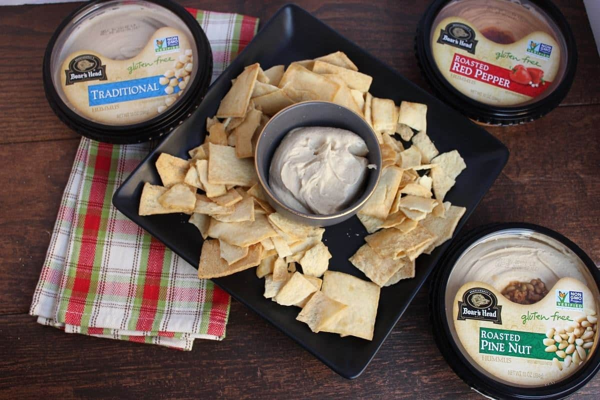 Super Easy Hummus Party Platters