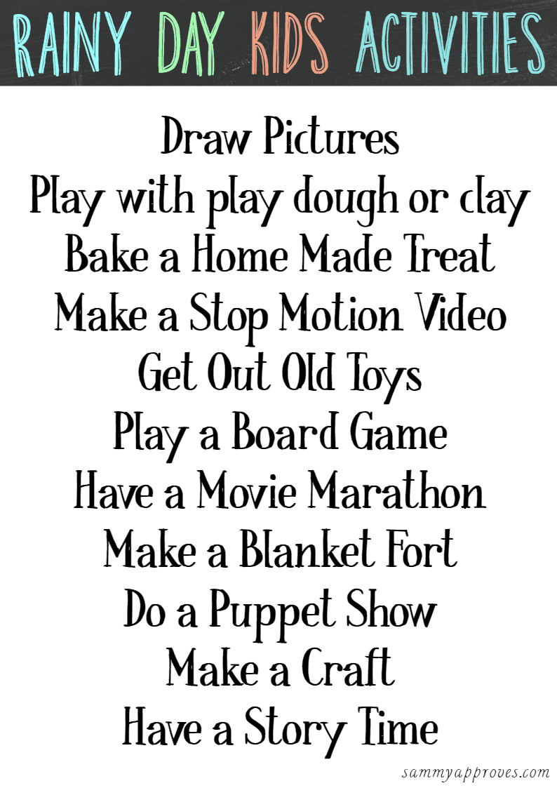 The Ultimate Of Rainy Day Things To Do With Kids