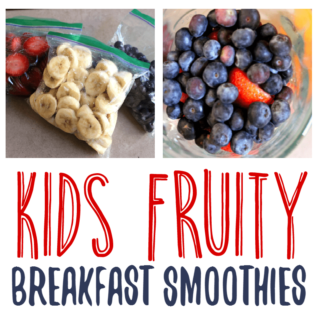 Kids Fruity Breakfast Smoothies- With Tampico