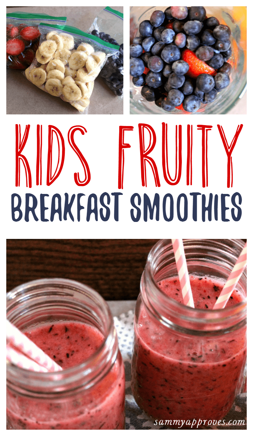 Kids Fruity Breakfast Smoothies