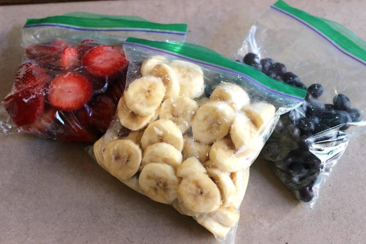 Kids Fruity Breakfast Smoothies