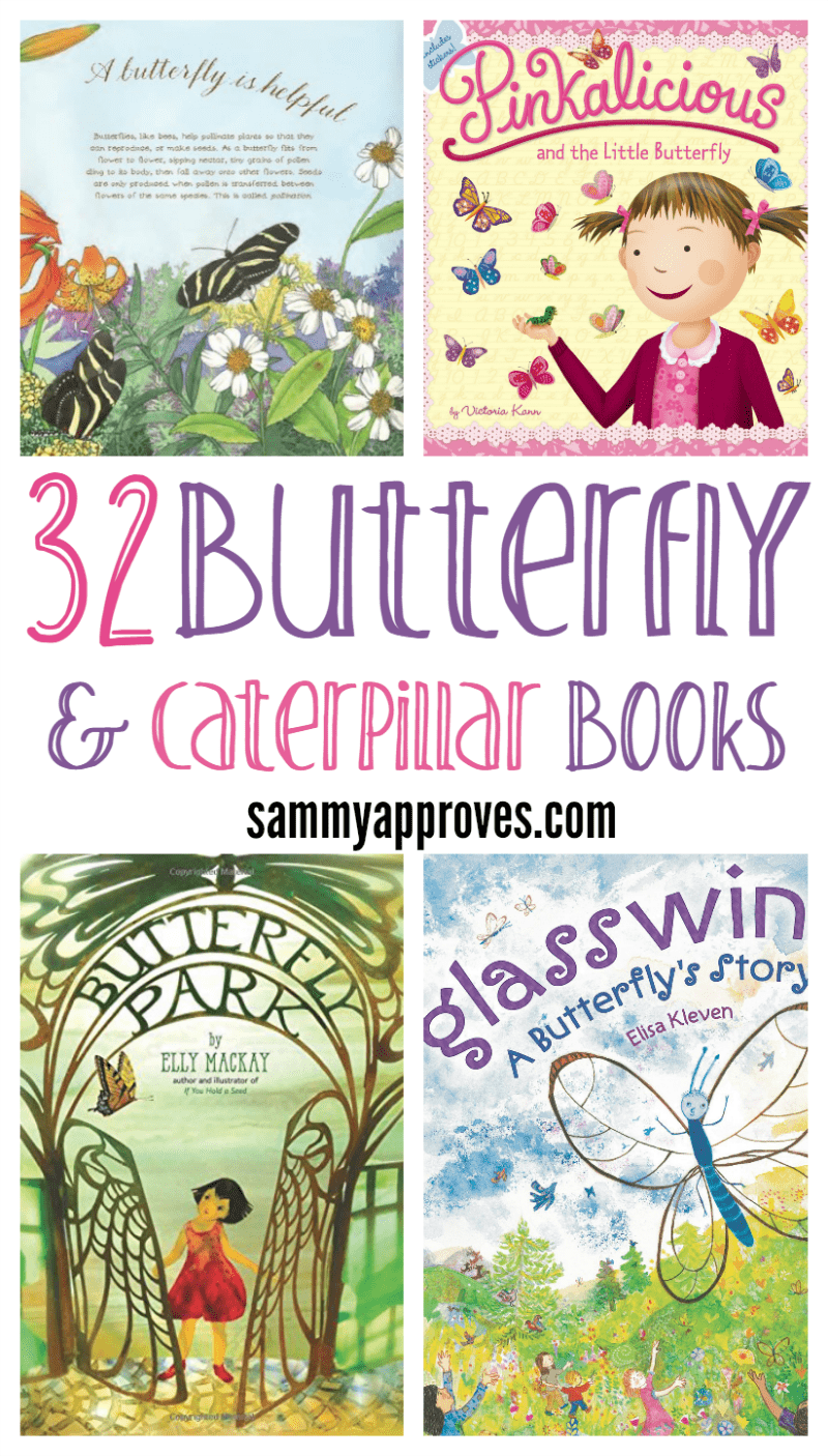 32 Butterfly & Caterpillar Picture Books For Kids