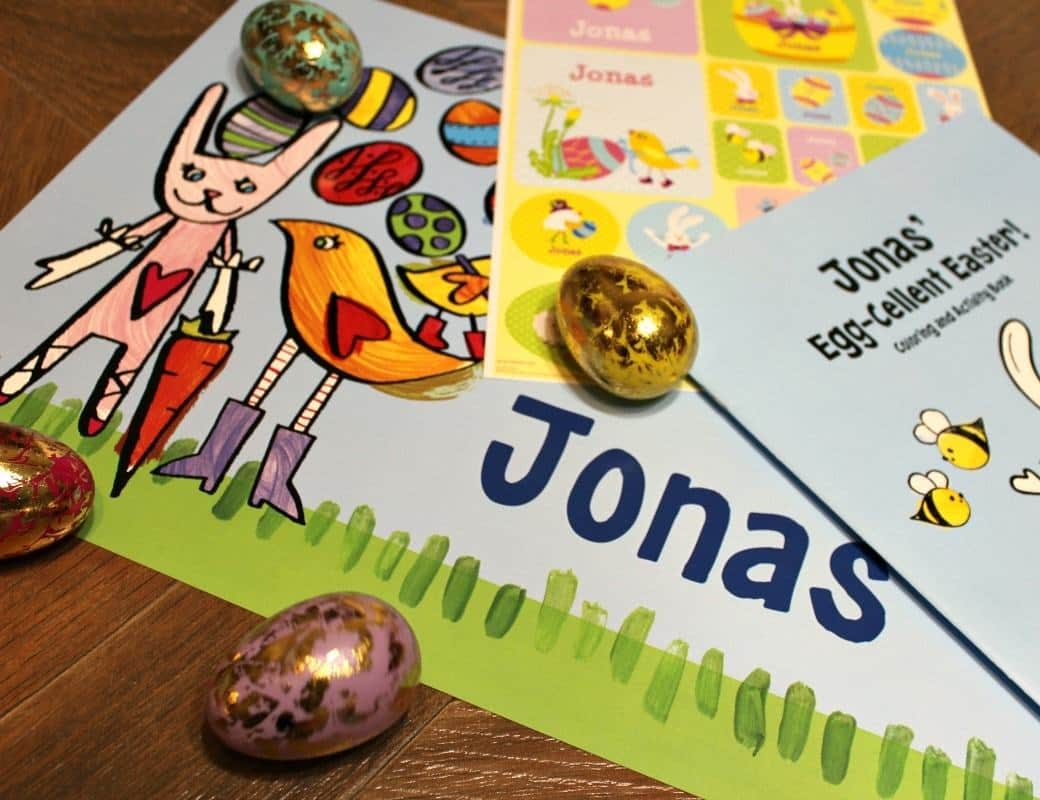 Kids Personalized Easter Gift Set