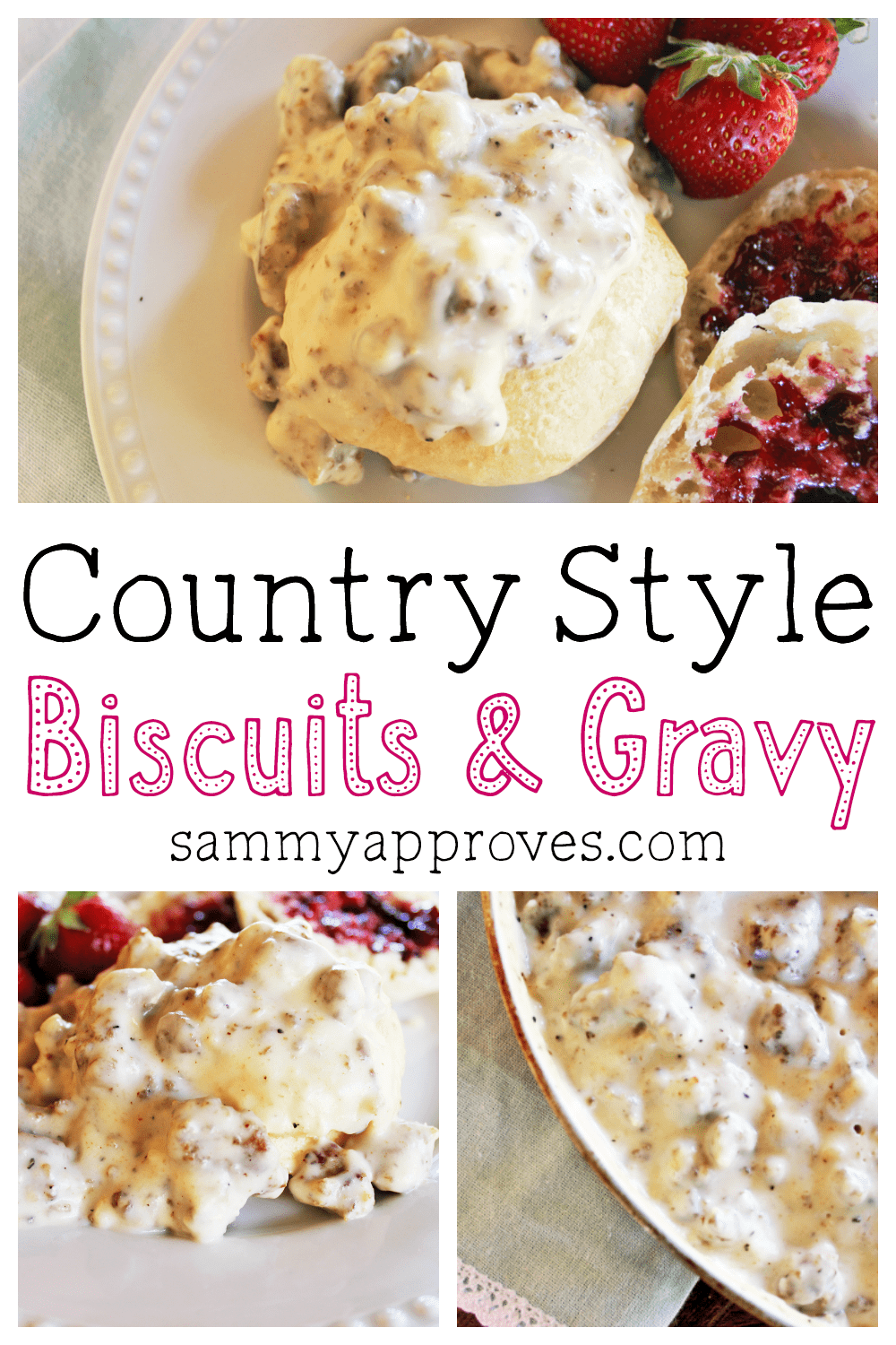 Country Style Biscuits & Gravy | Perfect for Mother's Day Brunch!