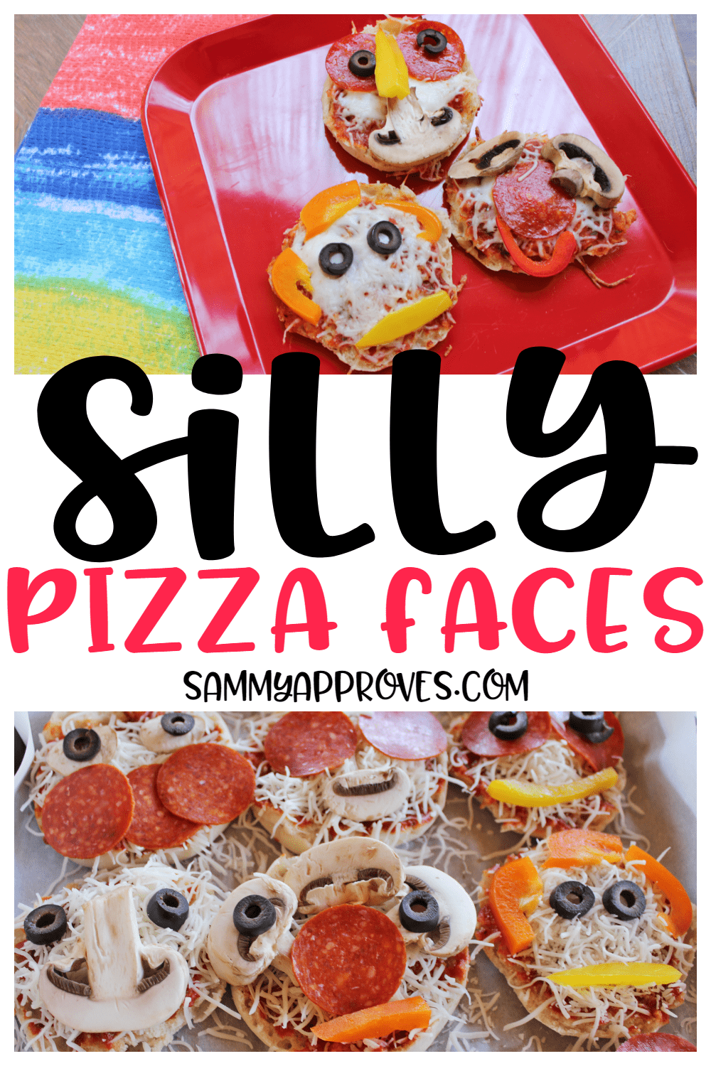 Silly Pizza Faces - Fun Recipe for Kids Lunch This Summer!