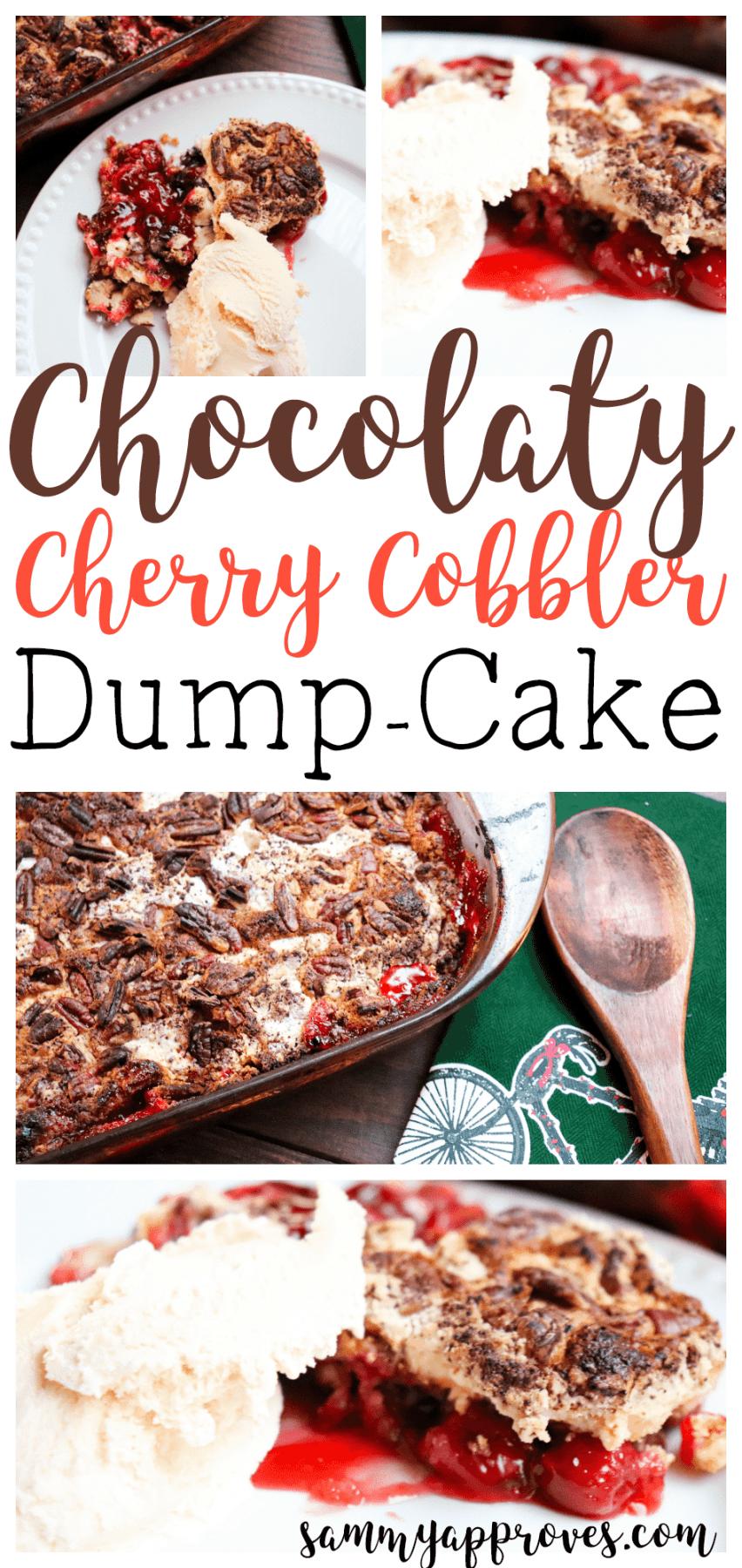 Chocolaty Cherry Cobbler Dump Cake