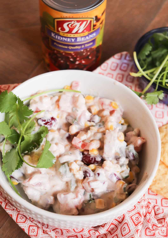 Lighter Creamy Red Bean Salsa   Made With Greek Yogurt