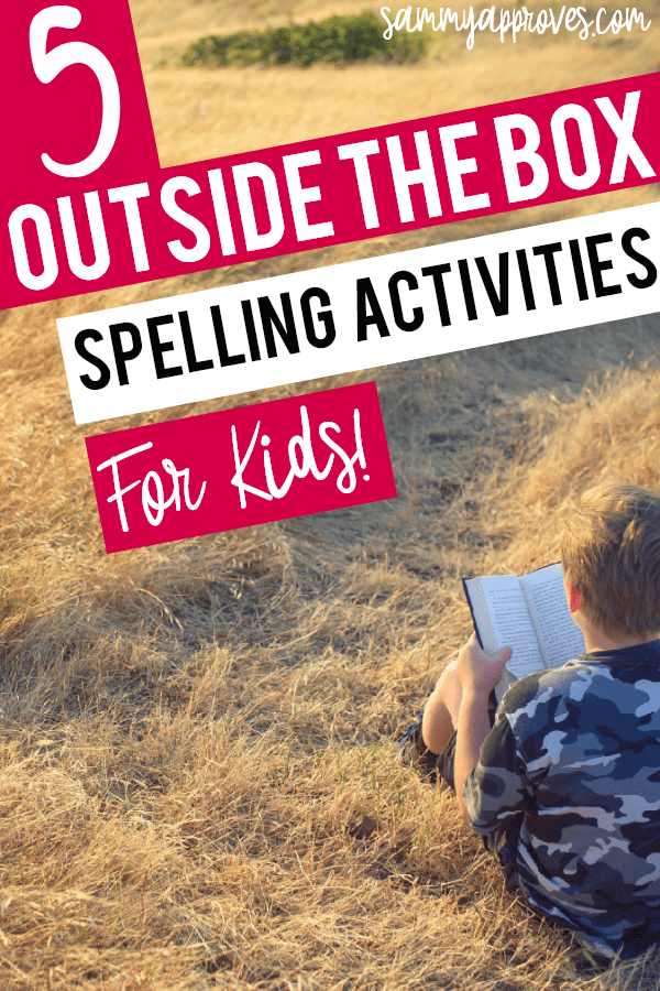 5 Outside the Box Spelling Activities for Kids