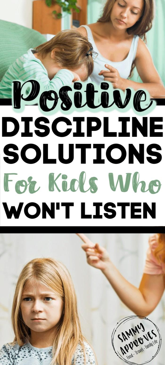 Positive Parenting Solutions When Your Kids Won't Listen