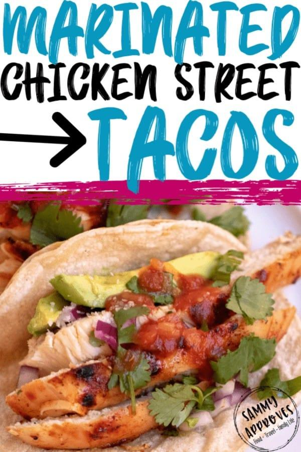 Making marinated chicken tacos takes simple street tacos to the next level. The marinated chicken is so tender and flavorful you'll literally never want to have your tacos with anything else.