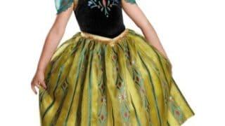 Deluxe Frozen Anna Coronation Costume Gown