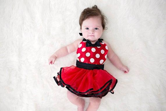 Minnie Mouse dress up baby costume