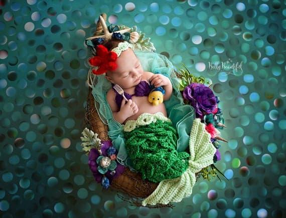 Little Mermaid Inspired Crochet Costume