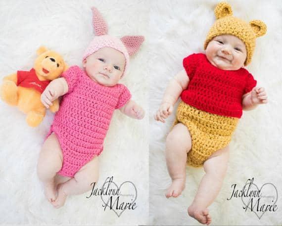 Handmade Disney's-Inspired Piglet Crochet Baby Costume