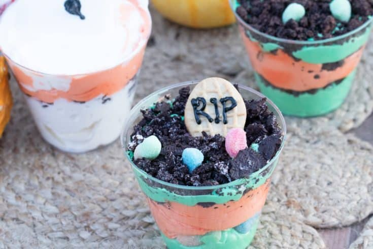 Halloween Cheesecake Mousse Cups