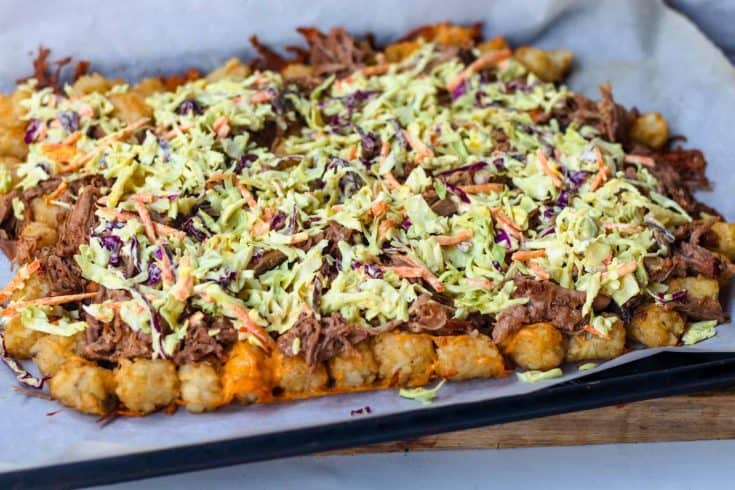 Loaded BBQ Pulled Pork Tots
